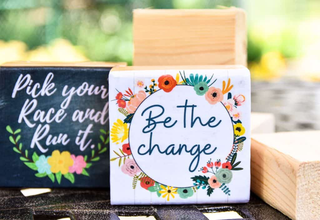 image showing little wood blocks with inspirational quotes