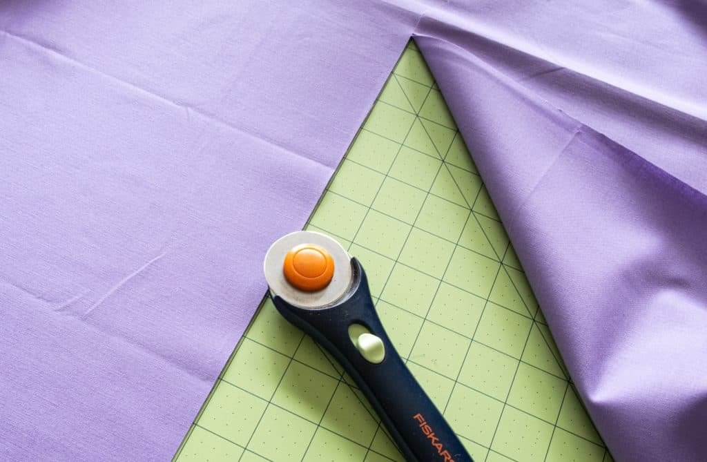 cutting fabric for washable face masks