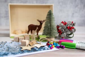 Winter shadow box supplies
